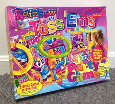 """Vintage Lisa Frank GAME ! """"Rainbow Toss 'Ems"""" 100% Complete EX RARE Collectors"""