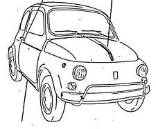 FIAT 500 SERIE MODANATURE 5PZ COFANO PORTE PARAFANGO RICAMBI EPOCA MODANATURA