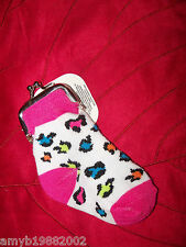 Pink w/ Leopard Print Sock Change Purse NEW LAST ONE