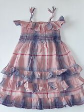 NWT BABY GAP GIRLS 18-24 MONTHS SMOCKED DRESS PINK PLAID SABLE ISLAND SUMMER