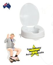 """Raised Toilet Seat  4"""" 100mm With Lid. While stock lasts!! Toilet Aid"""
