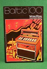 Original Wurlitzer Baltic 100 Jukebox Brochure