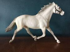 """VINTAGE BREYER """"BRENDA BREYER"""" PACER #2446 ALABASTER, HORSE OF SULKY SET"""