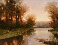 Canvas Print Brook Landscape Oil painting Picture Printed on canvas HD108