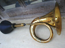 BRASS CAR HORN BIKE BUS BULLET BIG TAXI CLOWN BULB HORN VINTAGE LOOK BUGLE
