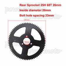 25H 68 Tooth Rear Chain Sprocket Fit 47cc 49cc Mini Moto ATV Quad Pocket Bike