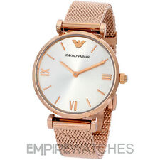 *NEW* EMPORIO ARMANI LADIES RETRO ROSE GOLD MESH WATCH - AR1956 - RRP £299