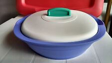 Tupperware Bowl w/ Lid & Divided Dish Inserts Microwavable