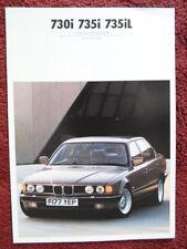 BMW 7 serie 1988 1989 mercato del Regno Unito Colori & Tappezzeria opuscolo