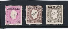 "PORTUGAL -  MACAU 1892 JORNAES stamps with INVERTED - TIMOR  "" RARE """