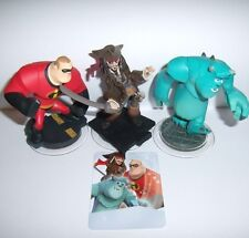 DISNEY INFINITY 1.0 2.0 3.0 Jack Sparrow Mr Incredible Sulley Character Figures