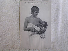 Madagascar/Pretty Young Mother Nursing Baby/Bare Breast/Printed Photo/Unposted