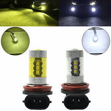 2x H11 H8 LED Fog Light Samsung 2323 80W 6000K White 4300K Yellow DRL Bulbs