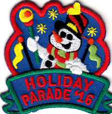 """""""HOLIDAY PARADE 16"""" - Iron On Applique Patch -  CHRISTMAS - HOLIDAY - SANTA -"""