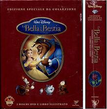 LA BELLA E LA BESTIA - 2 DVD + LIBRO NUOVO, SIGILLATO, 1° STAMPA, DA COLLEZIONE