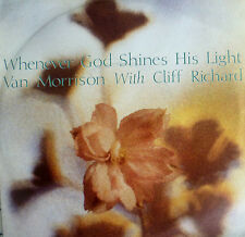 "7"" 1989 MINT- ! VAN MORRISON & CLIFF RICHARD : Whenever God Shines His Light"