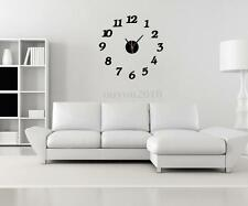 3D Modern Luxury Mirror Wall Sticker Clock Watch Home Art Living Room Decor DIY