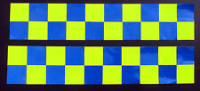 Self Adhesive Reflective Battenberg Side Reflectors 1000mm Decal Blue/Yellow