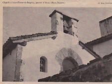 1936  --  CHAPELLE A SAINT ETIENNE DE BAIGORRY  QUARTIER D OCCOZ   3C613