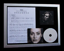 ADELE Hello+25 LTD MUSIC GALLERY QUALITY CD FRAMED DISPLAY+EXPRESS GLOBAL SHIP