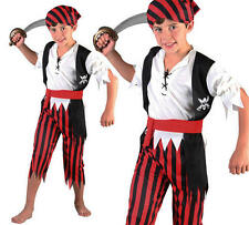 Childrens Kids Boy Pirates Of The Caribbean Fancy Dress Costume Bucanner M
