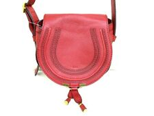 Authentic Chloe Red Mini Marcie Leather Shoulder Bag