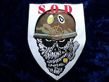 S.O.D.  EMBROIDERED BACK PATCH