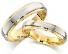 10K TWO TONE GOLD MATCHING HIS & HERS WEDDING BANDS  RING MENS WOMENS SET