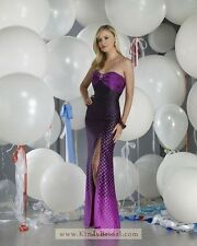 BNWT FOREVER PROM GOWN DRESS 910107 SIZE 06 IN PURPLE/BLACK *RETAIL $349*