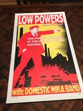 1997 Frank Kozik LOW POWERS Domestic Mika Band SILKSCREEN concert POSTER