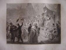 Grande gravure NAPOLEON BONAPARTE Invalides  Distribution Croix légion d'honneur