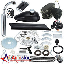 Universal Black 80CC Bike 2 Stroke Gas Engine Motor Kit DIY Motorized Bicycle