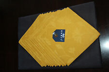 natural authentic lithuanian flex black tablecloth and 12yellow napkins set