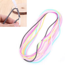 10Pcs Double Colors TPU Spiral Cable Protector Cord Wrap Cable Winder Organizer