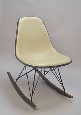 UPHOLSTERED LIGHT TAUPE Eames HERMAN MILLER rocker basesFIBERGLASS CHAIR