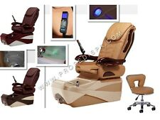 Brand New Chocolate SE massage w air seat pedicure spa chair salon -Free Stool