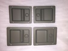 M998 HUMVEE HMMWV  H-1 LOCKING DOOR HANDLE LATCH - OD GREEN - SET OF 4