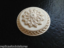 "MN05f Ceiling Rose 2.36"" Large Plain Plaster RepliCast Miniatures Dolls House"