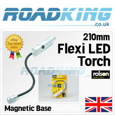 Rolson 210mm Flexi LED Torch | Flexible Bendable Light Lamp with Magnetic Base
