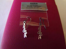 ABBA 1977 SILVER EARRINGS EAR RINGS ONLY AVAILABLE IN AUSTRALIA BRAND NEW RARE