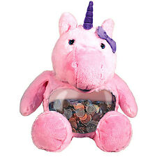 NEW Teddy Tank Magical Unicorn Fish Tank Easter Plush Candy Holder Coin Bank