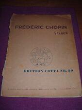"""Frédéric Chopin """"Valses"""", Edition Cotta Nr. 20, Klavier, Noten"""