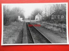 PHOTO  LNWR TRENCH LEVEL CROSSING & RAILWAY STATION 12/90