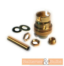 "BRASS BC UNSWITCHED 1/2"" LAMP HOLDER KIT WITH 10MM THREADED ROD, REDUCER, NUTS"