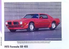 1973 Pontiac Formula Firebird Trans Am SD 455 ci info/specs/photo/price 11x8