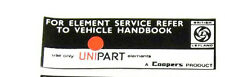 CLASSIC MINI UNIPART AIR BOX STICKER LABEL LMG1015 BB7