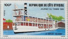 IVORY COAST ELFENBEINKÜSTE 1985 849 738 Stamp Day Riverboat Ship Schiff MNH