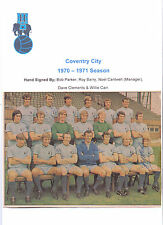 COVENTRY CITY 1970-1971 TEAM GROUP RARE ORIG HAND SIGNED X 5 INCL NOEL CANTWELL
