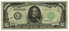 1934 One Thousand Dollar Federal Reserve Note Chicago $1000 Fr. 2211G