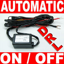 LED Daytime Running Light DRL Relay Harness Auto Control On/Off Switch kit C07